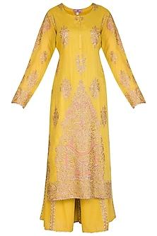 Mustard Embroidered Sharara Set by Nysa & Shubhangi