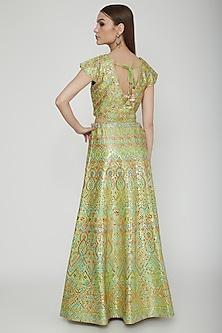 Green Embroidered Lehenga Set by Nysa & Shubhangi