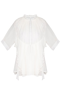 White Frill Shirt by Nysa & Shubhangi