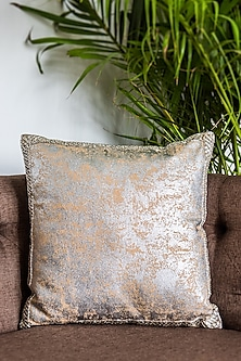 Gold Foil Printed Cushion Covers (Set of 2) by Ode and Cleo