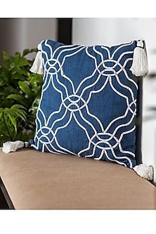 Blue Dori Embroidered Cushion Covers (Set of 2) by Ode and Cleo
