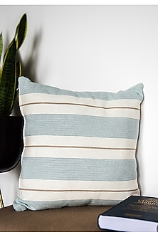Blue Printed & Embroidered Cushion Covers (Set of 2) by Ode and Cleo