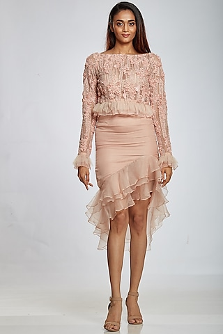 Lily Ruffled Skirt by Ohaila Khan