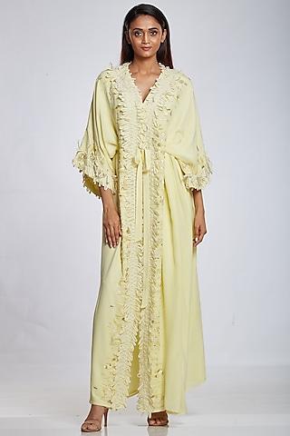 Lemon Yellow Organza Gown by Ohaila Khan
