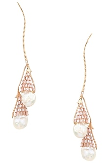 Rose Gold Plated Crystal and Swarovski Earrings by Outhouse