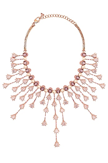 Rose Gold Plated Cluster Necklace by Outhouse
