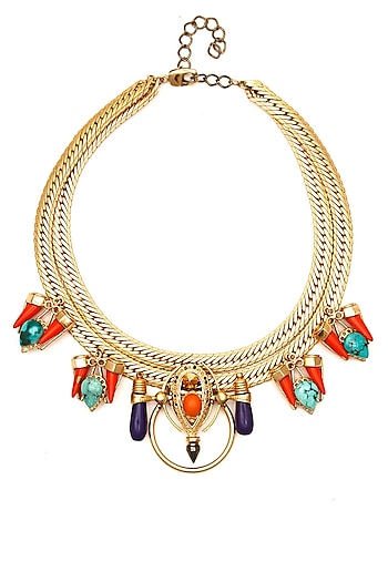 Gold plated Lupita necklace by Outhouse