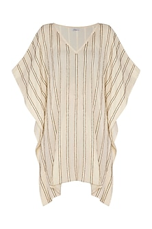 Ivory Hand Beaded Kaftan Dress by Ollari