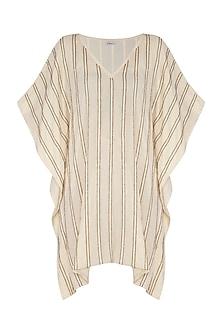 Ivory Hand Beaded Kaftan Dress by Ollari