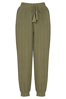 Green Jogger Pants by Ollari