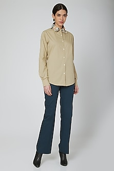 Sand Applique Embroidered Shirt by Our.Love