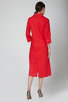 Red Dress With Concept Pockets by Our.Love