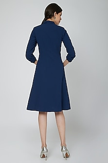 Midnight Blue Embroidered Blazer Dress by Our.Love