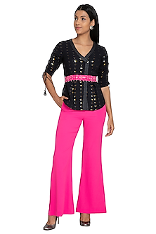Fuchsia Fit & Flare Pants by Our.Love