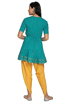 Ochre Yellow Elasticated Dhoti Pants by Our.Love