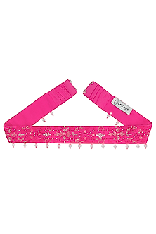 Neon Pink Embellished Belt by Our.Love