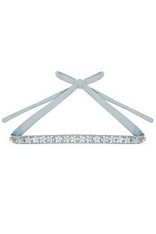 Gold & Silver Floral Embroidered Belt by Our.Love
