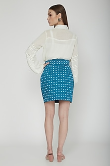 True Blue Embellished Mini Skirt by Our.Love