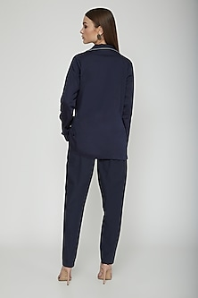 Navy Blue Trousers With Pockets by Our.Love