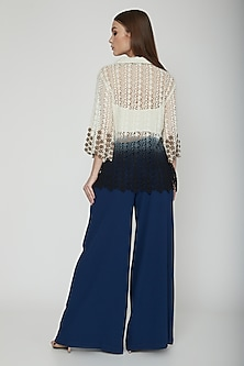 Midnight Blue Flared Trouser Pants by Our.Love