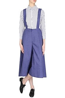Blue Flared Jumpsuit by Olio