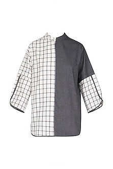 White Checkered Top by Olio