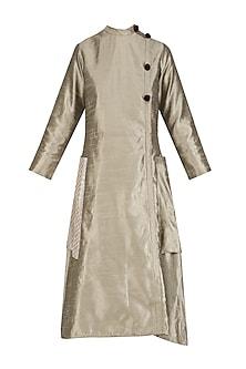 Grey A Line Midi Dress by Olio