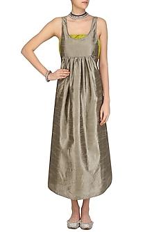 Grey Oversized Maxi Dress by Olio