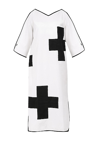 White Cold Shoulder Maxi Dress by Olio