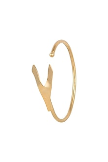 Gold Polish Handcrafted Geometric Bracelet by One Nought One One