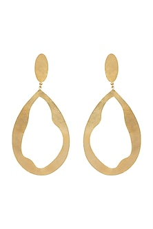 Gold Polish Handcrafted Drop Earrings by One Nought One One