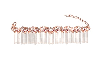 Rose Gold Plated Swarovski Crystal Hand Harness by Opalina