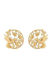 Gold Plated Handcrafted Earrings by Opalina