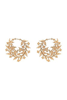 Gold Plated Sculpture Earrings by Opalina