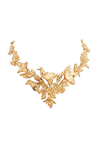 Gold Plated Handcrafted Necklace by Opalina