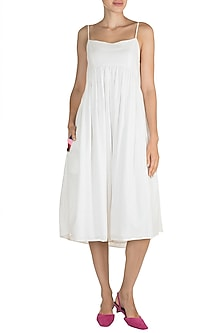 White Spaghetti Strappy Dress by Ori