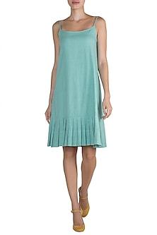 Sky Blue Khadi Cotton Dress by Ori