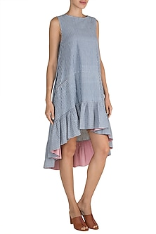 Sky Blue Asymmetric Dress by Ori