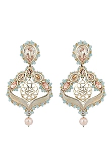 Silver Finish Chandelier Earrings by Ornamaas