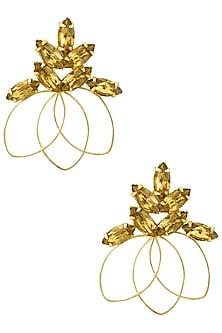 Gold plated Redolance Topaz Bouquet Earrings by Sonnet Jewellery