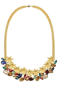 Gold plated Redolance Anestasia Neckgarland/ necklace by Ornamas By Ojasvita Mahendru
