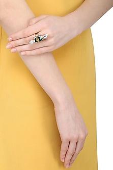 Gold Plated Vinifera Galactic Cut Ring by Ornamas By Ojasvita Mahendru