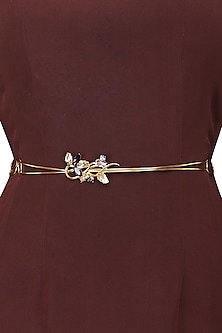 Gold Plated Floral Vine Belt by Ornamas By Ojasvita Mahendru