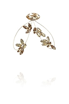 Gold plated firefly earrings by Ornamas By Ojasvita Mahendru