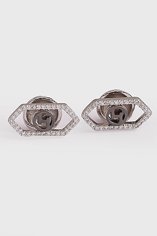 Silver Plated Swarovski Cufflinks by Outhouse