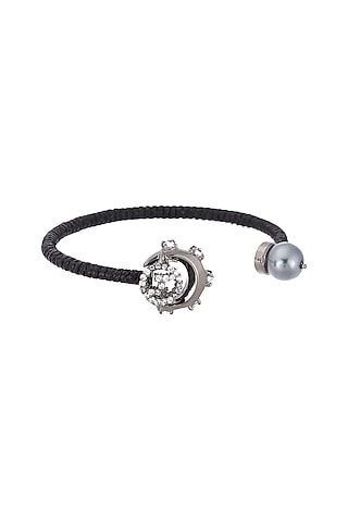 Gunmetal Plated Swarovski Bracelet by Outhouse