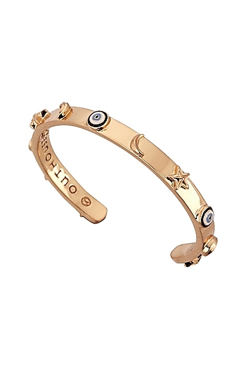 Gold Plated Charm Bangle by Outhouse