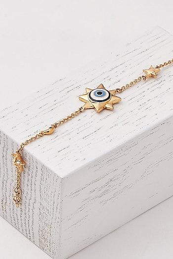 Gold Plated Charm Chain Bracelet by Outhouse