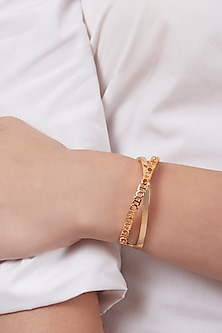 Gold Plated Archway Bracelet by Outhouse