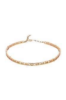 Gold Plated Choker Necklace by Outhouse